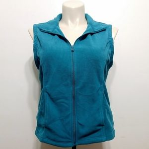 Great Northwest clothing company teal fleece vest